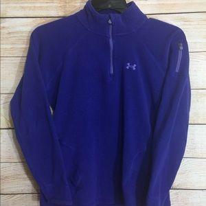 Women's Under Armour Fleece Purple Sweater S